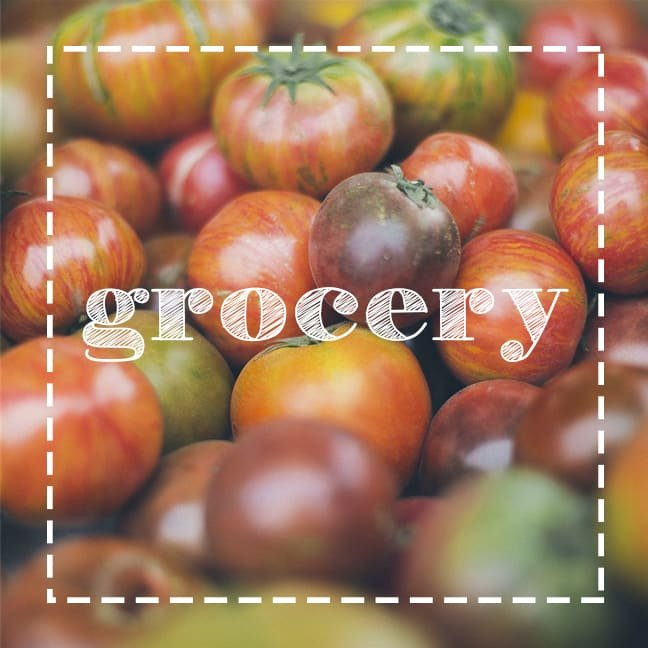 grocery button