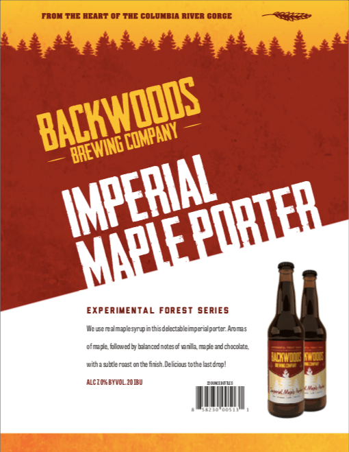 bottles - imperial maple porter - click to download PDF