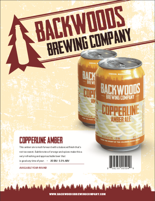 cans of copperline amber ale - click to download PDF