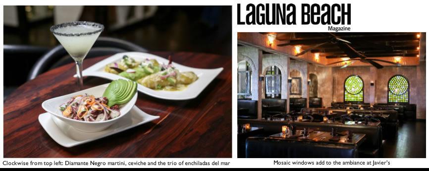 Laguna Beach Magazine features Javier's