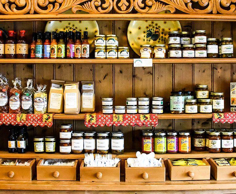 shelves of goods