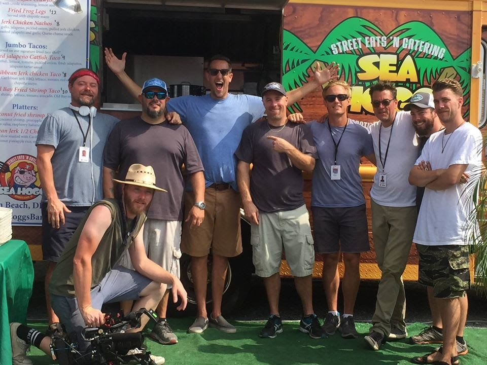 group in front food truck