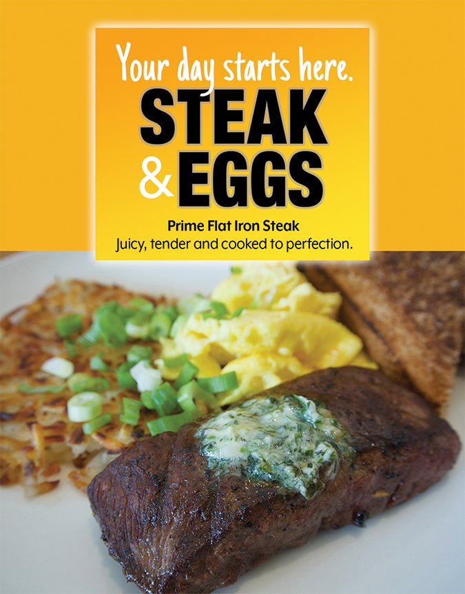 steak and eggs flyer