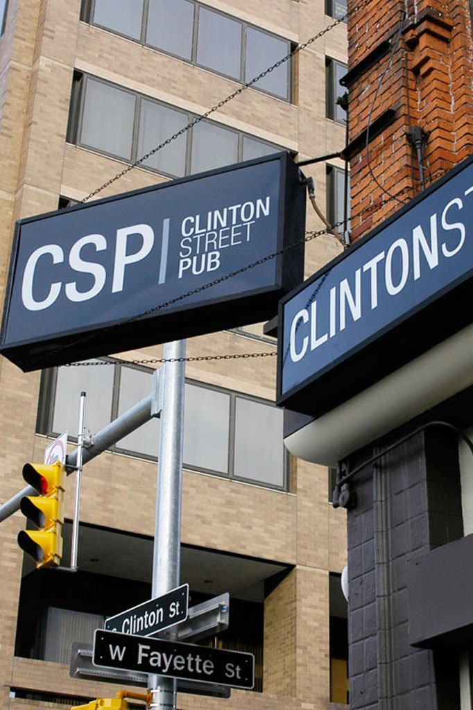 Clinton Street Pub sign