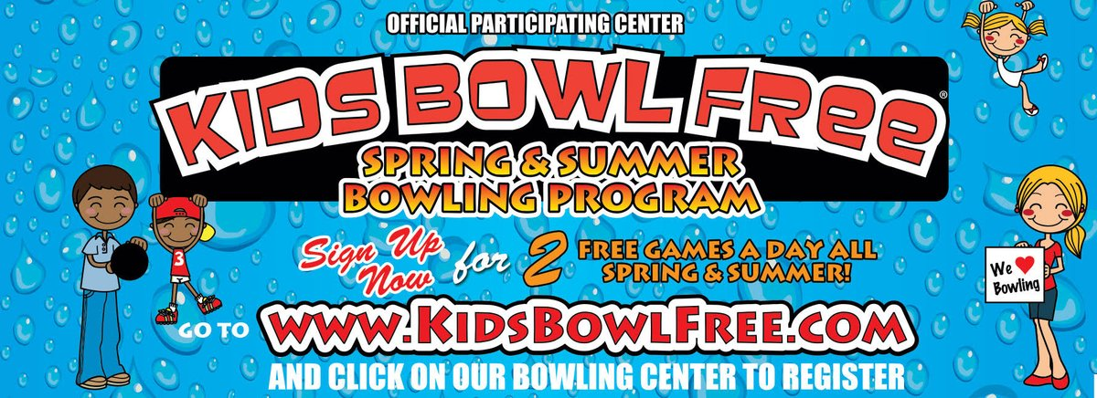 REGISTER FOR KIDS BOWL FREE AT https://www.kidsbowlfree.com/center.php?alley_id=5201