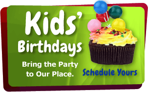 Kids' Birthdays Bring the party to our place. Schedule Yours