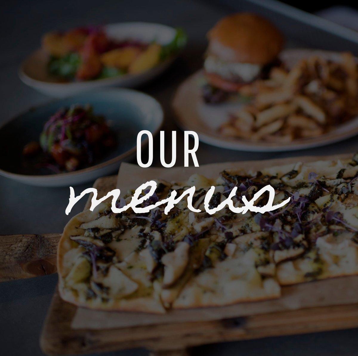 our menus button