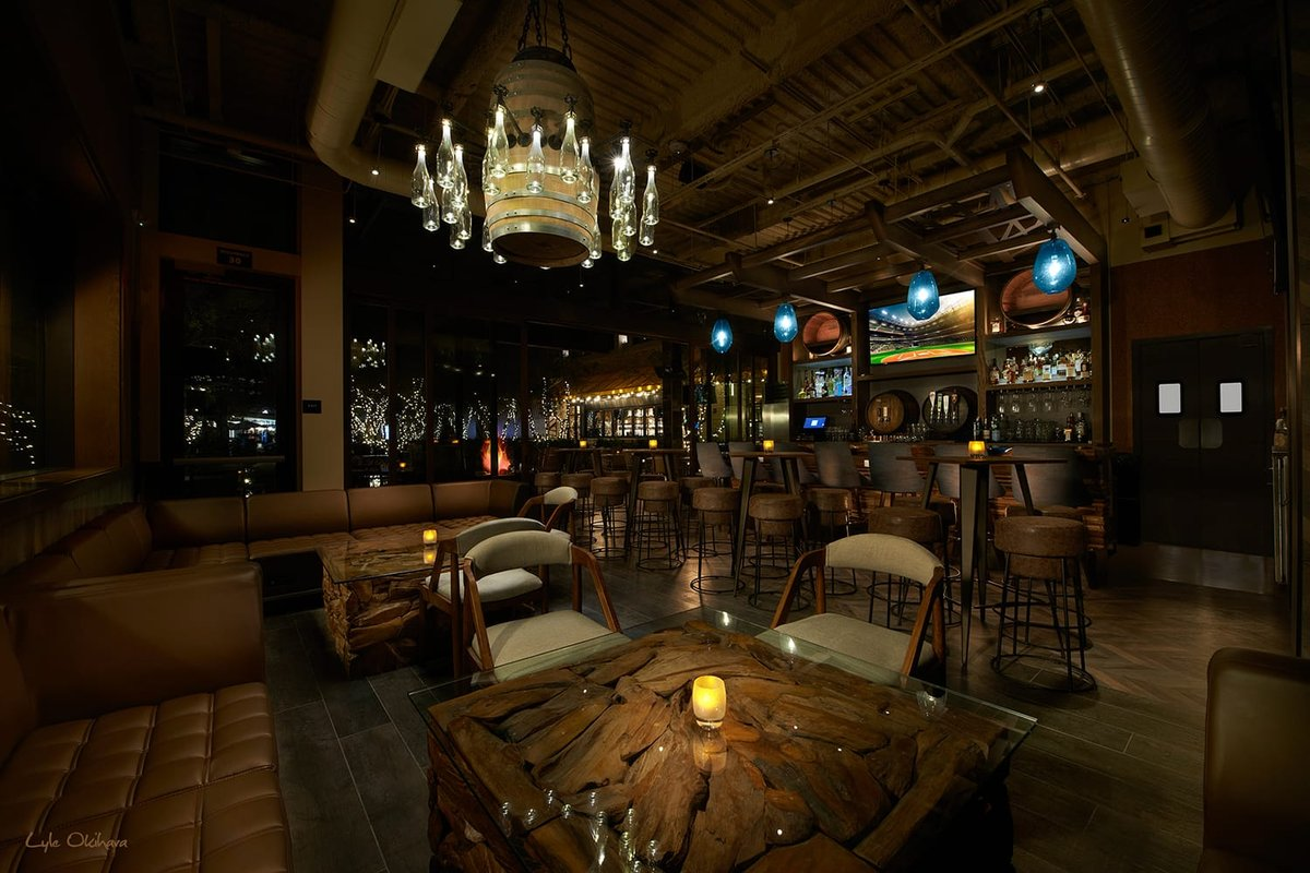 the wine bar inside