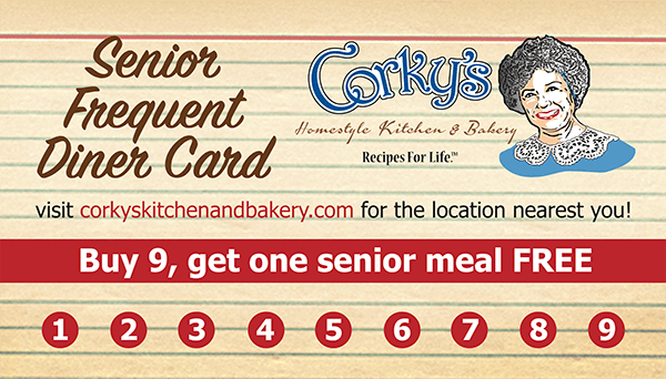 Senior Frequent Diner Card