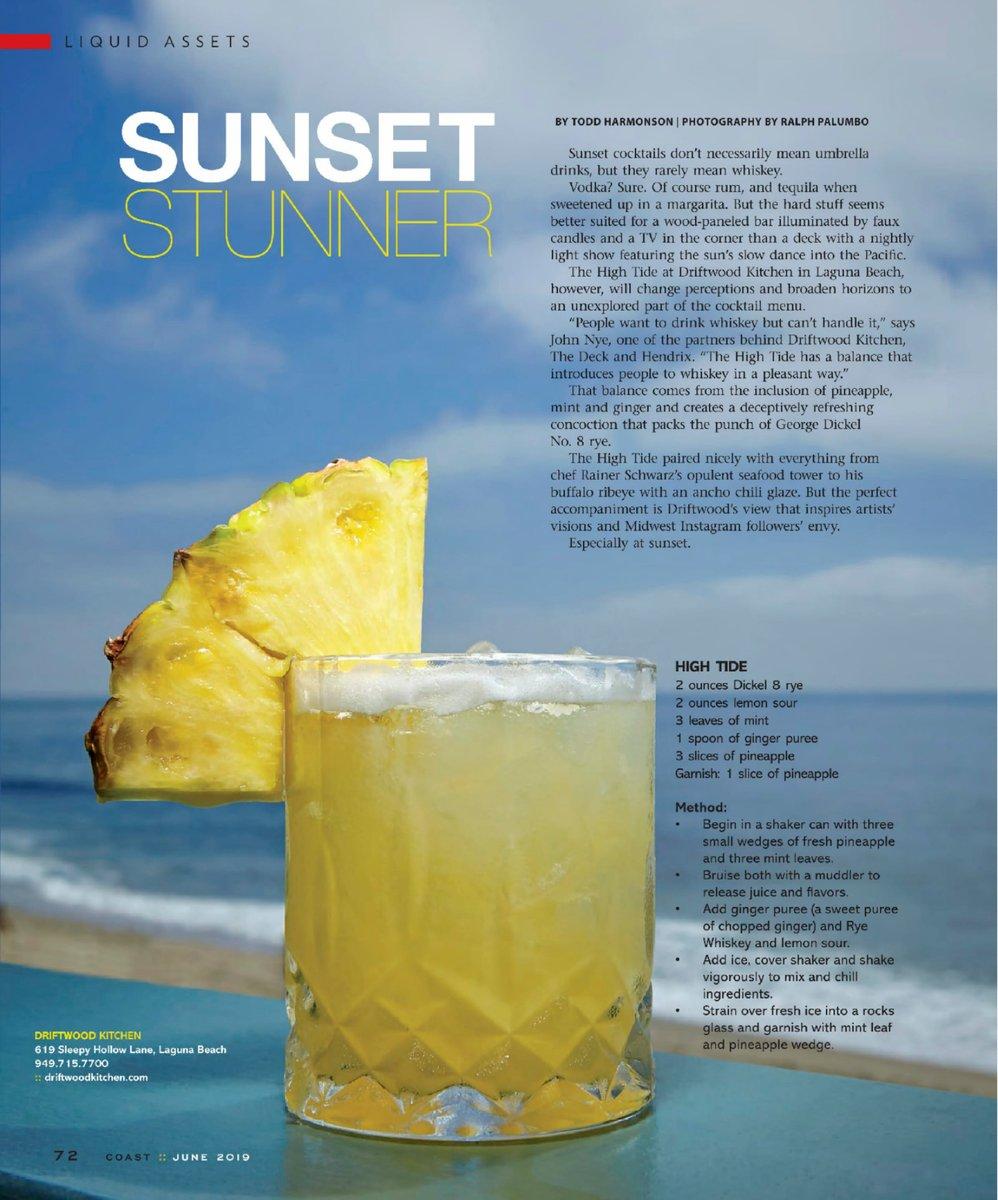 Sunset Stunner Cocktail recipe magazine article