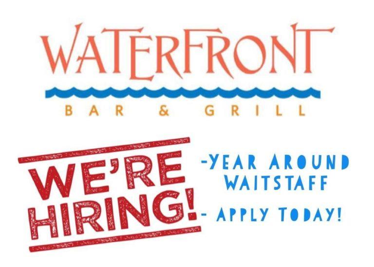 We're hiring year arond waitstaff. Apply today!