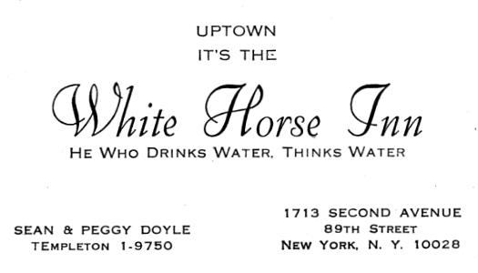 White Horse Inn advertisement