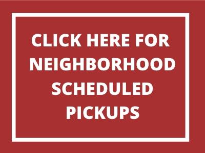 scheduled pickups