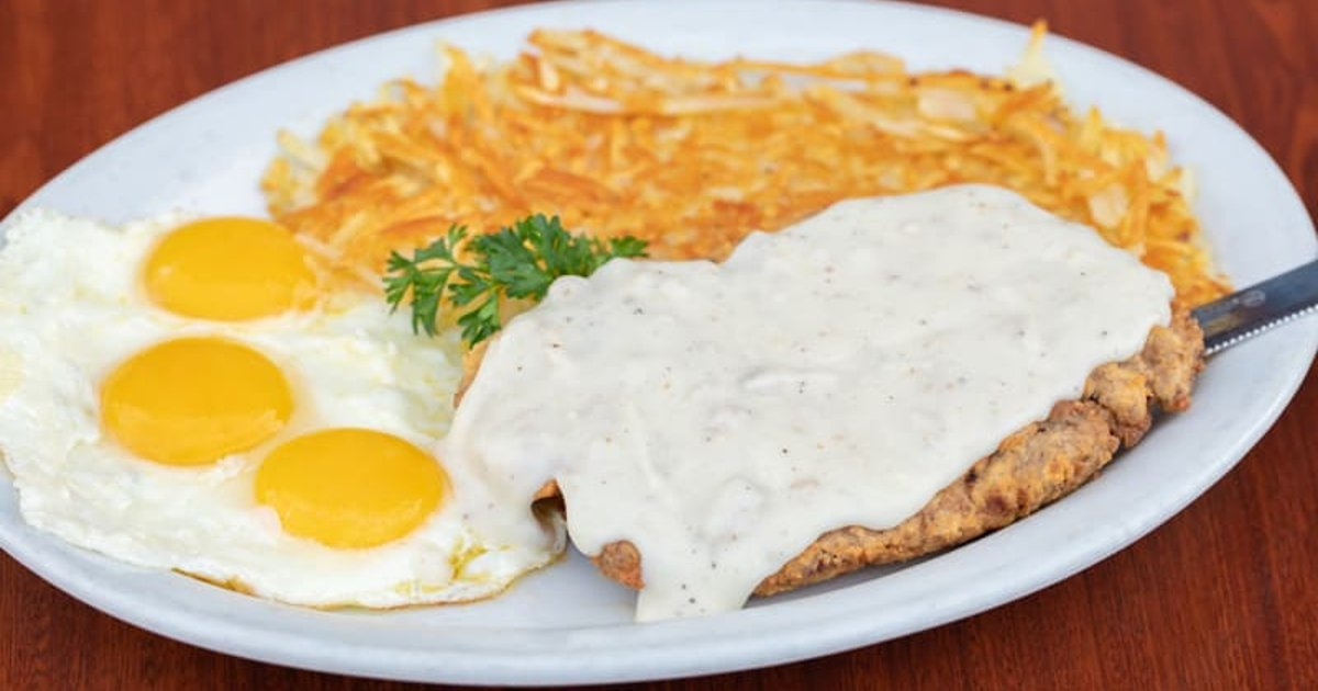 Hand Breaded Chicken Fried Steak Eggs Breakfast Corky S Kitchen And Bakery American Restaurant In Ca