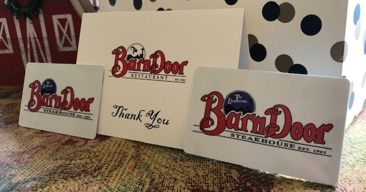 Gift Cards - The Legendary Barn Door Steakhouse - Steak ...
