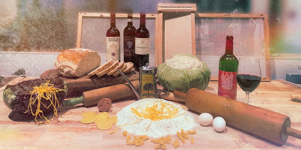wine and dough ingredients