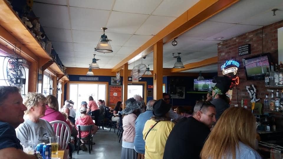 busy interior of restaurant