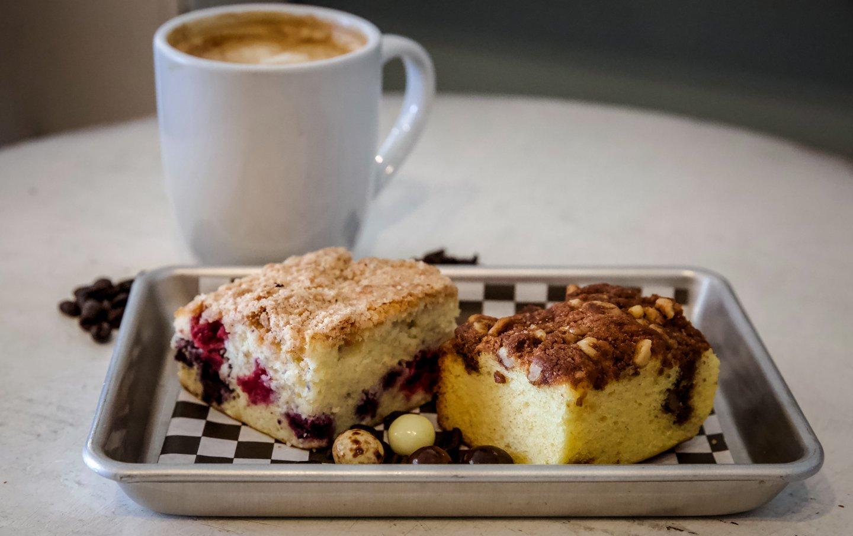 coffee cake and coffee