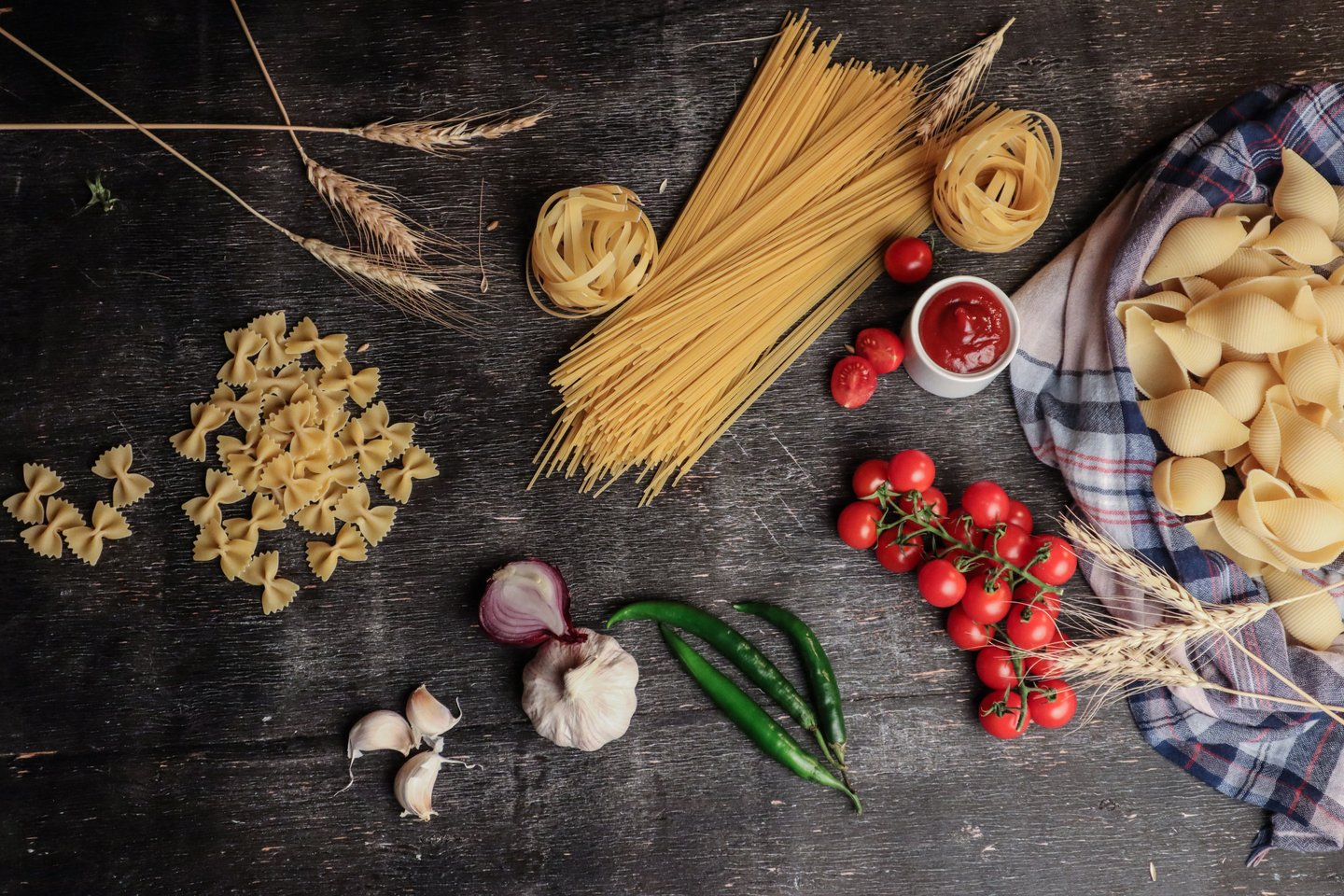 pasta with italian ingredients