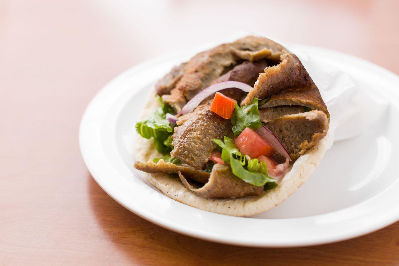 gyro sandwich at chicken dijon in el segunado and renondo beach, ca