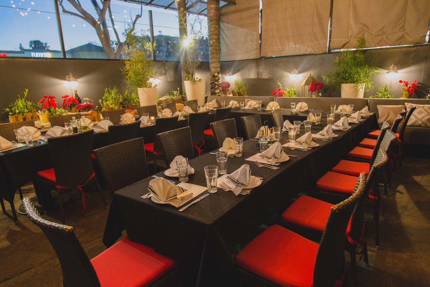 exterior dining private party