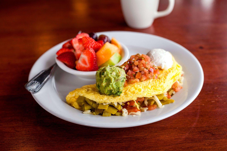 santa fe omelet with fruit