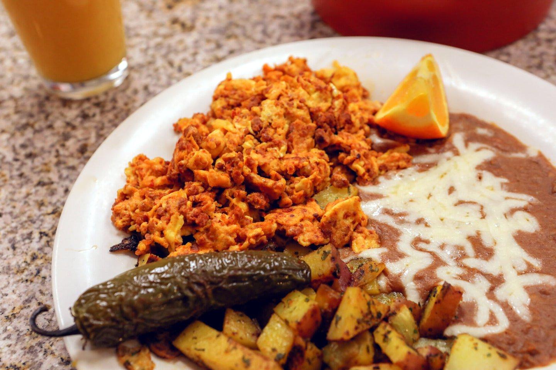 Chorizo and eggs