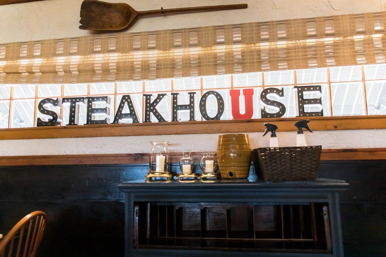 steakhouse sign