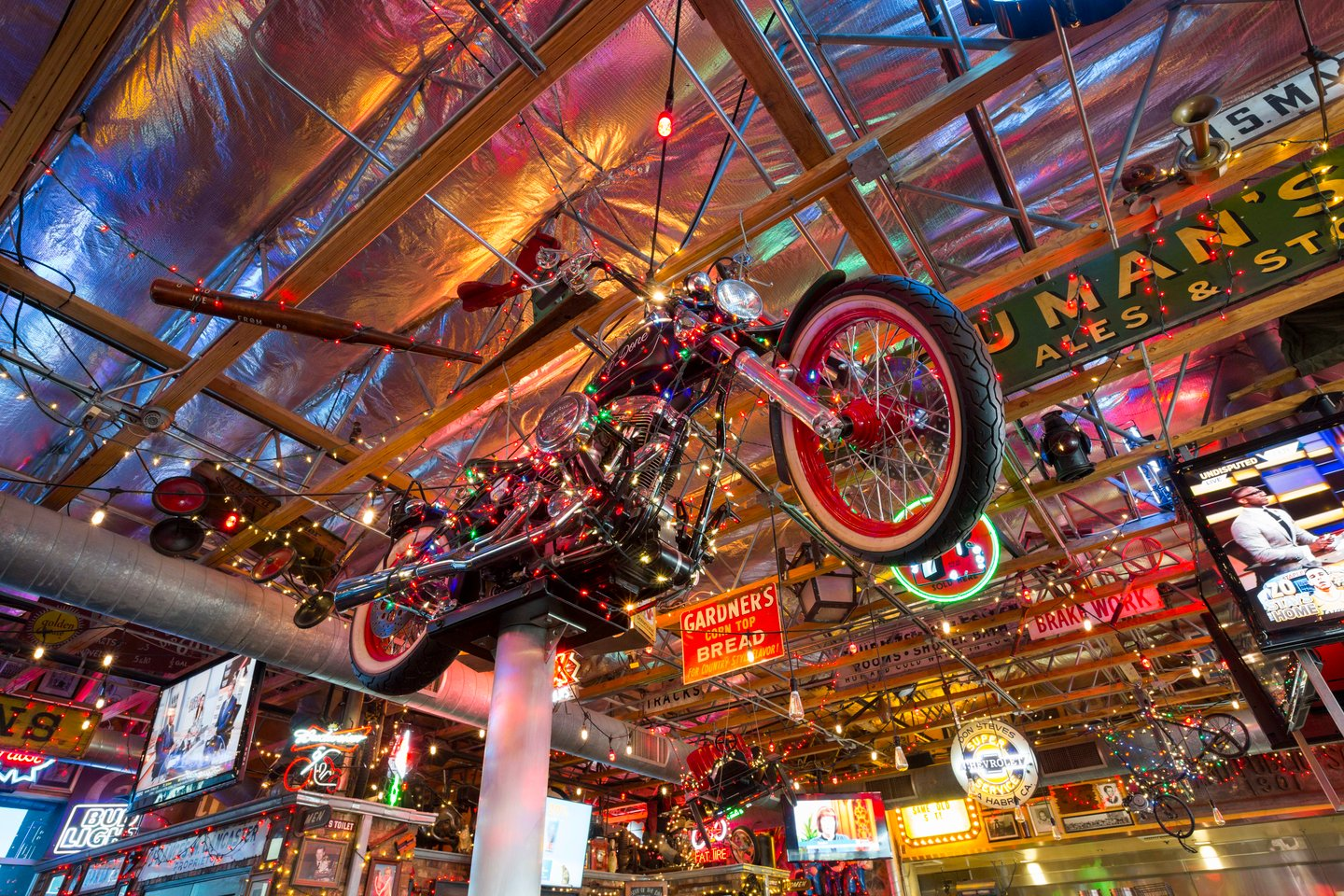 motorcycle hanging