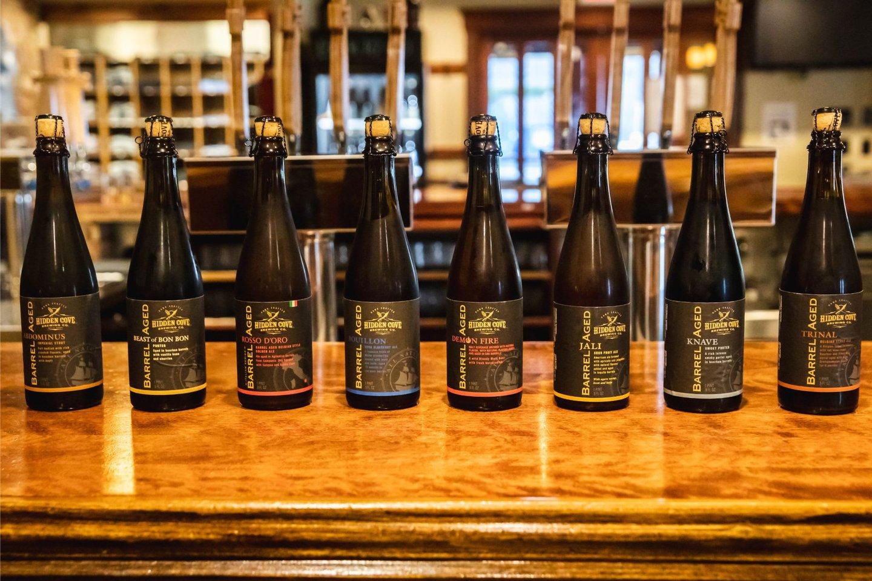 line of bottles