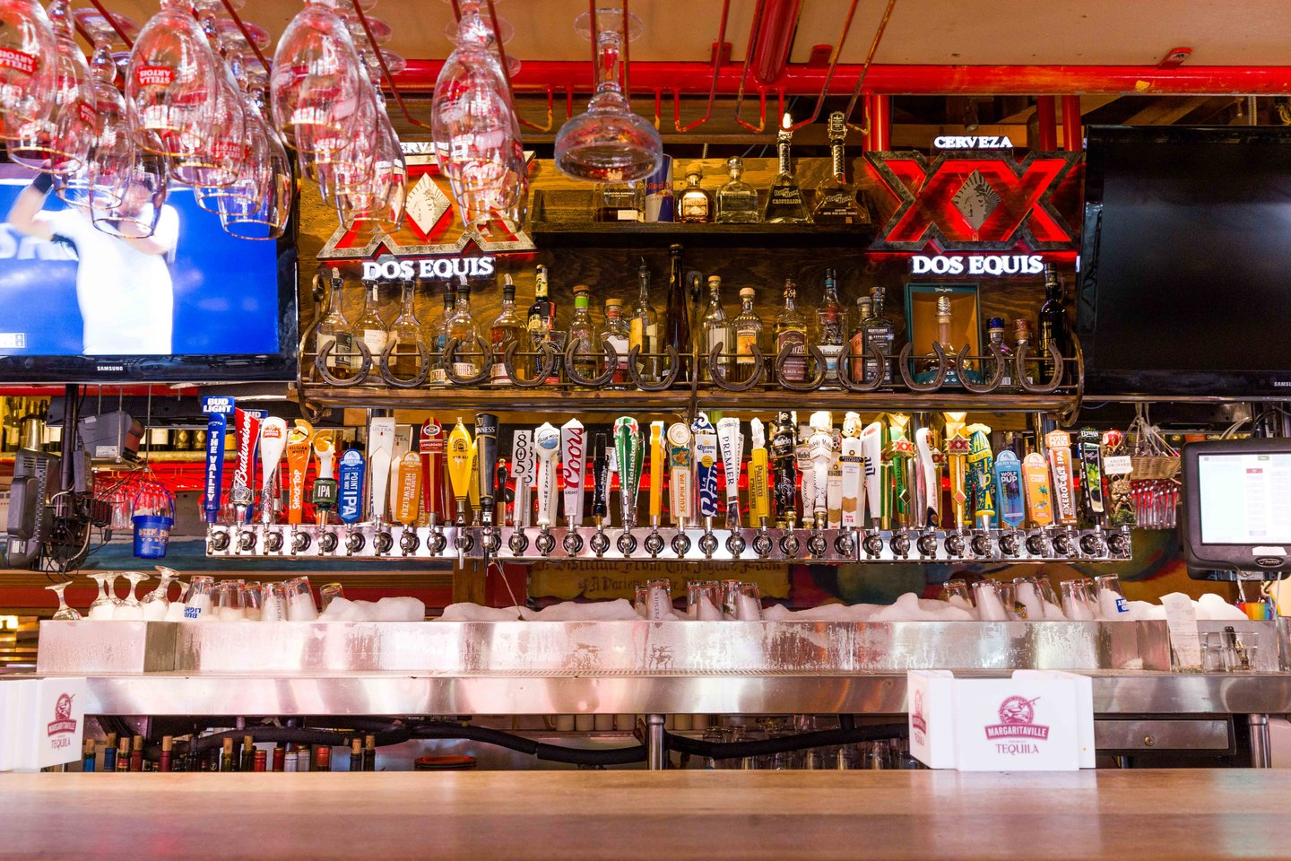 bar with tap handles