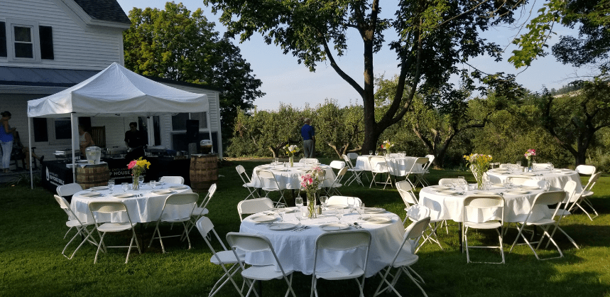 picture of outside catering at the farm