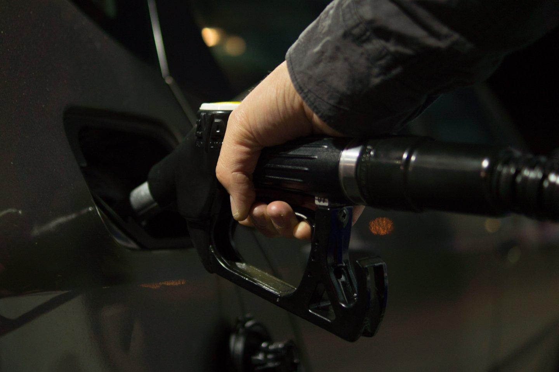 refilling car at gas station
