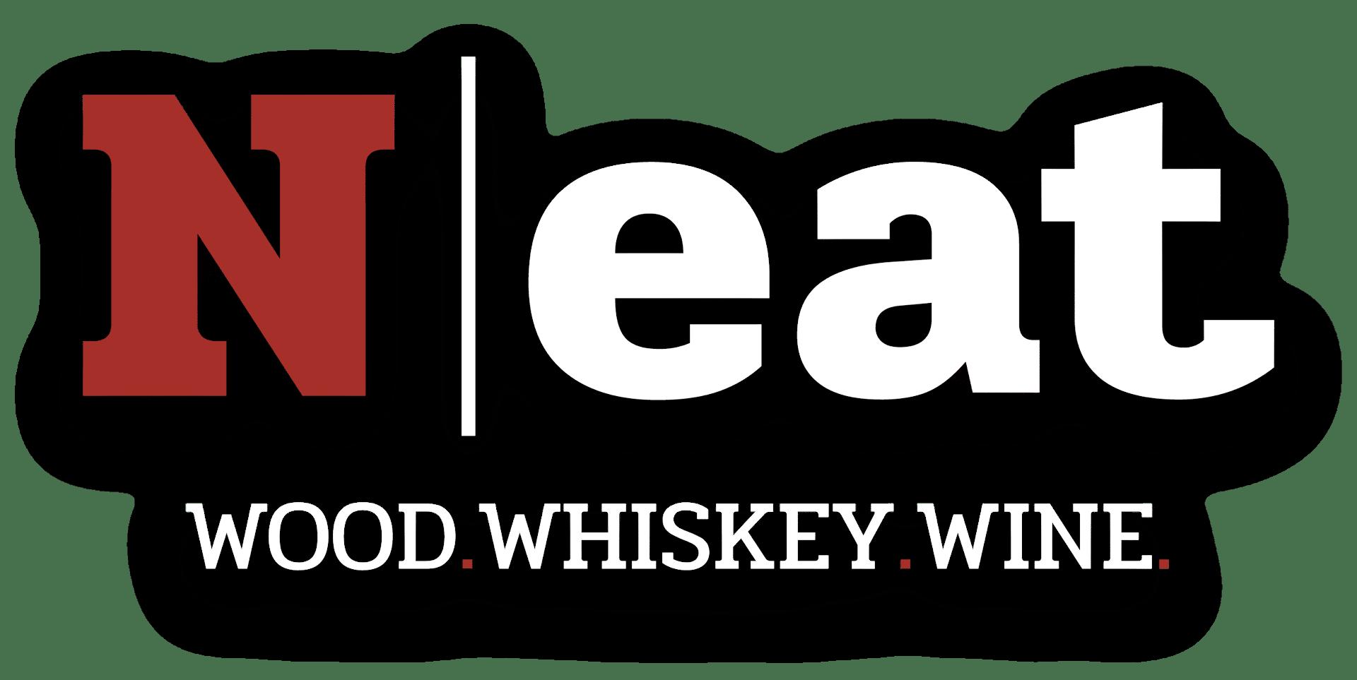 neat logo wood whiskey wine