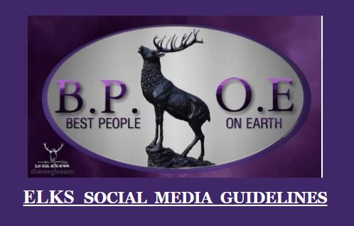 BPOE elk logo with elk standing on a rock