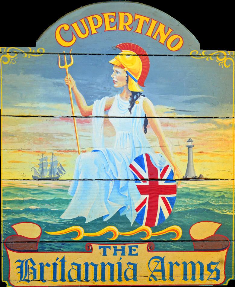 Britannia Arms Cupertino logo