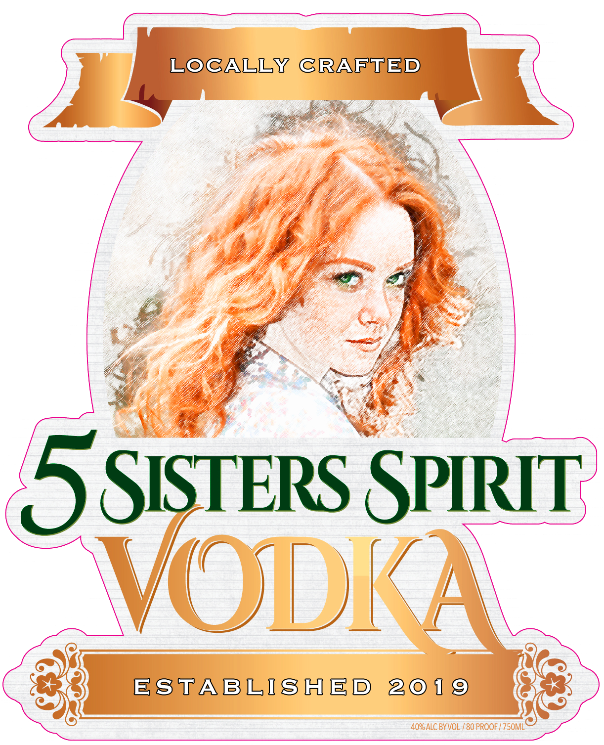 5 Sister's Vodka logo