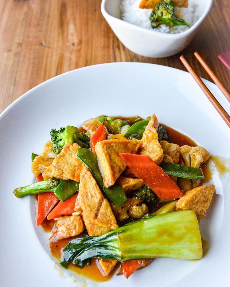 Tofu Vegetables Dậu Hủ Xao Bong Cải House Menu Brodard Chateau Vietnamese Restaurant In Garden Grove Ca