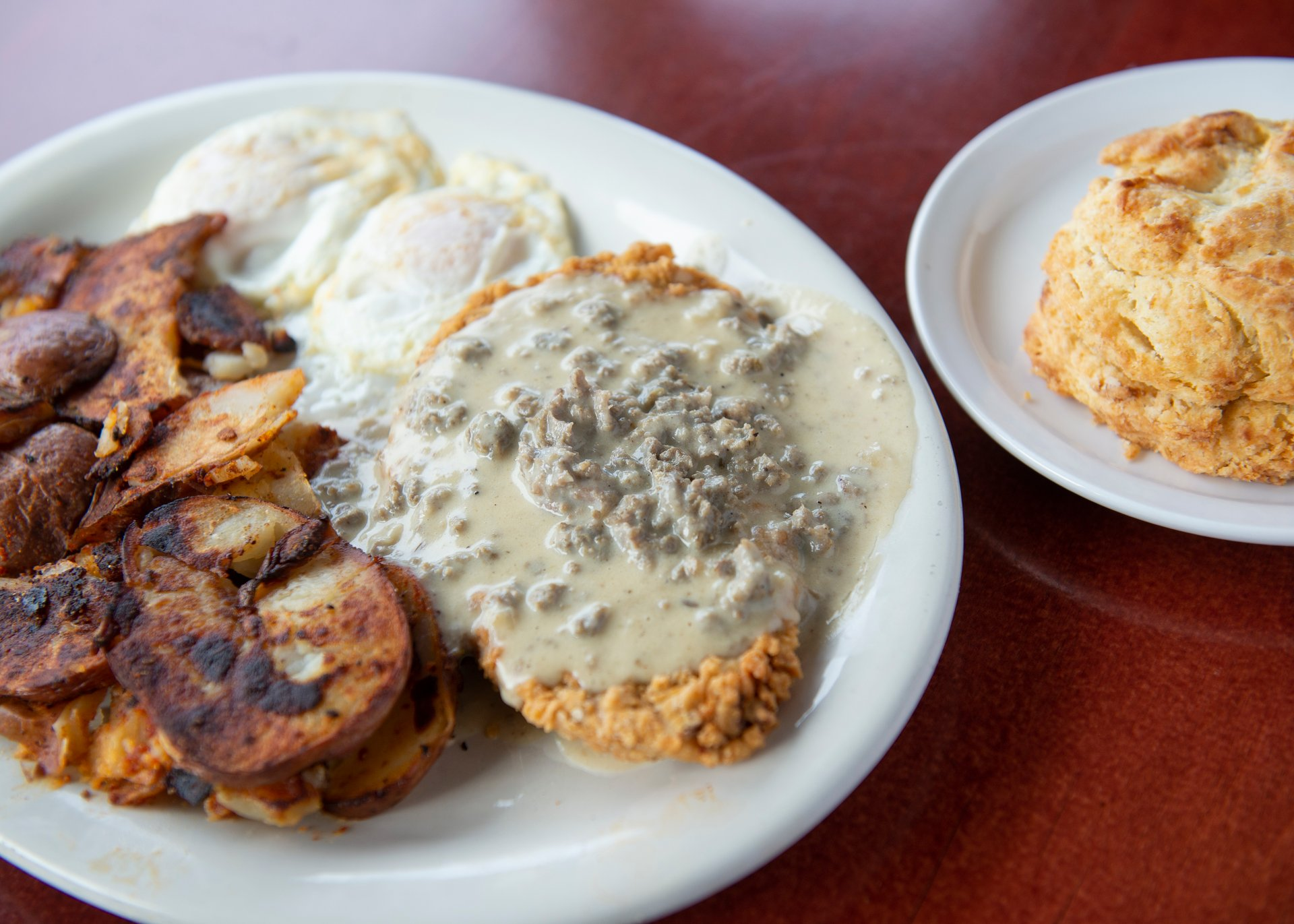 Chicken Fried Steak Eggs Breakfast Available All Day Blue Star Cafe Pub Restaurant In Seattle Wa