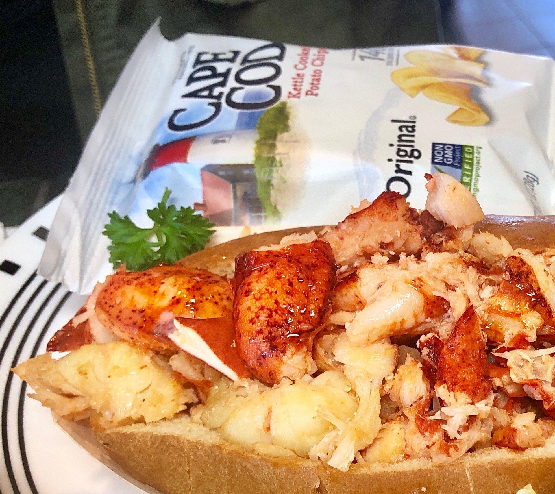 Hot Buttered Lobster Roll Main Menu Seafood Sam S Cape Cod Ma
