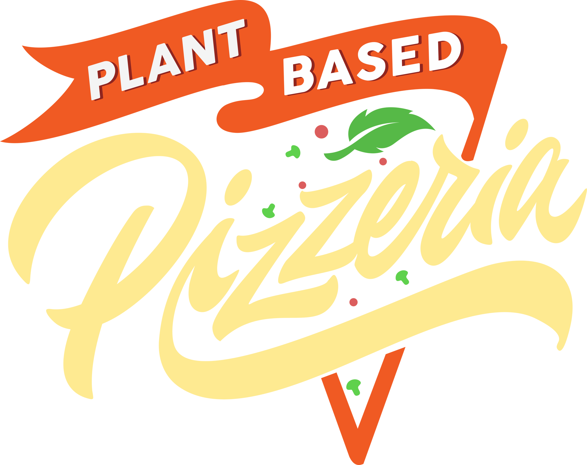 plant based pizzeria logo