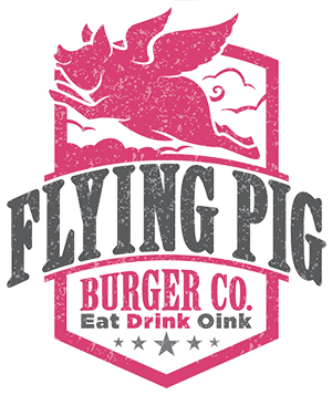 Flying Pig Burger Logo