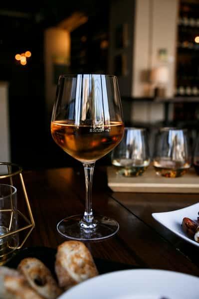 wine glass vertical shot