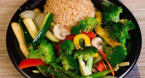 SOJ - Entree Meat Brown Rice Vegetables