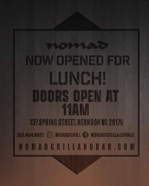 NOW OPEN FOR LUNCH