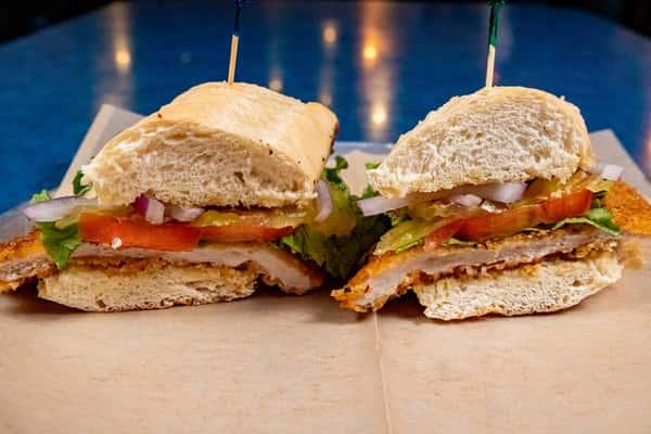 Hatch Pork Tenderloin Sandwich