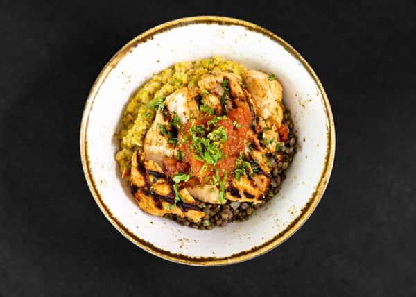 Tandoori Chicken On Quinoa & Lentils