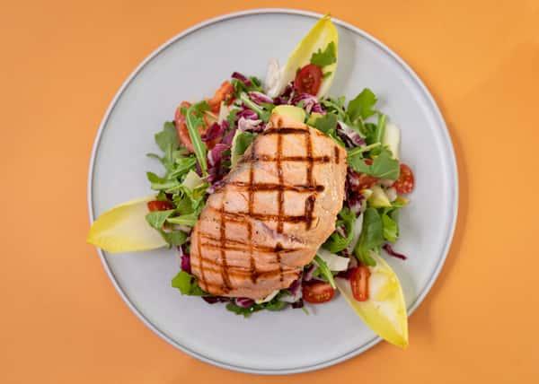 Grilled Salmon & Belgian Endives