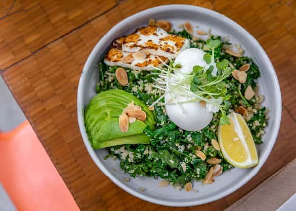 Quinoa Halloumi Green Bowl