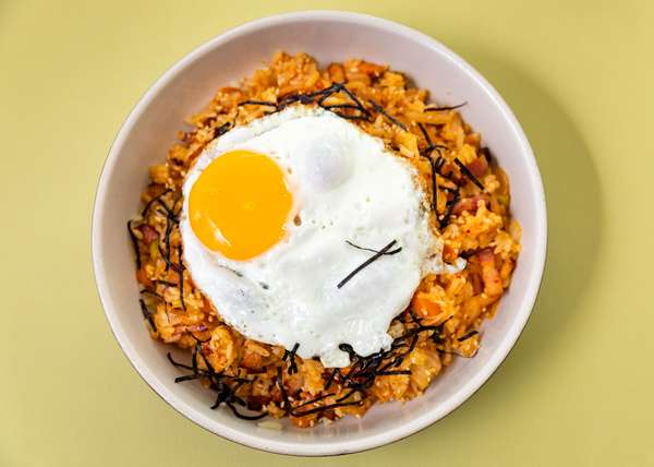 Kimchi and Not So Fried Rice Bowl